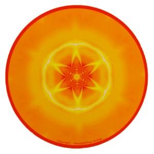 Tapis de souris rond Mandala de la conscience des échanges dans l'amour