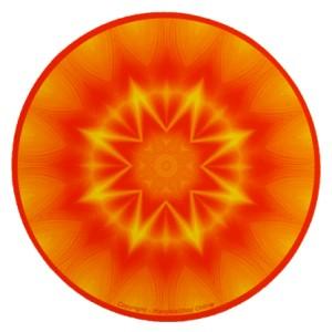 Tapis de souris rond Mandala de la puissance créatrice