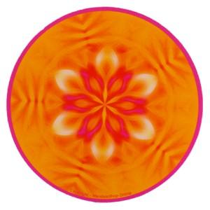 Tapis de souris rond Mandala vie et émotions légères