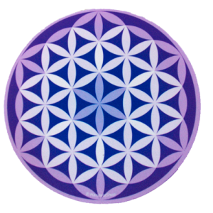 Round mouse pad Purple Flower of Life