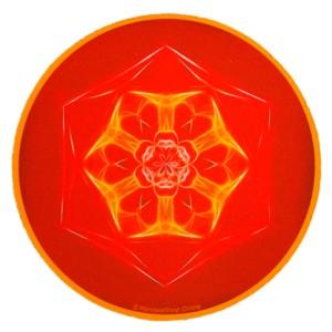 Tapis de souris rond Mandala de la Connaissance