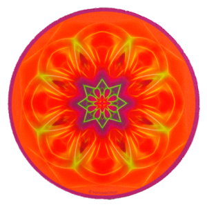 Tapis de souris rond Mandala de l'Honnêteté