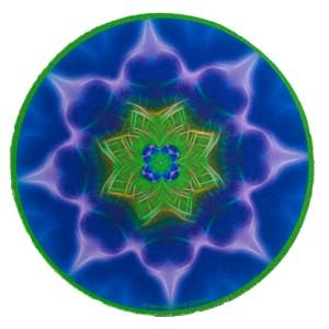 Tapis de souris rond Mandala de la Croissance