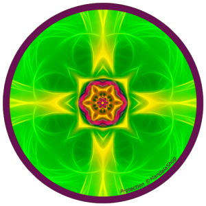 Harmonizing platter Mandala of Protection