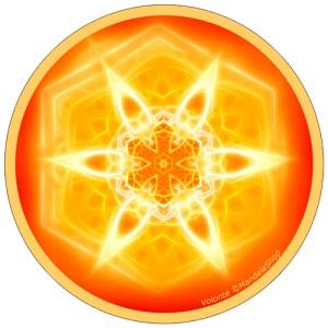 Disque harmonisant Mandala de la Volonté