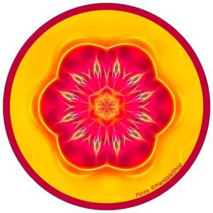 Harmonizing platter Mandala of Force