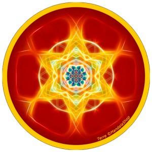 Harmonizing platter Mandala of Earth