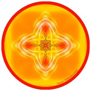 Harmonizing platter Mandala of Work