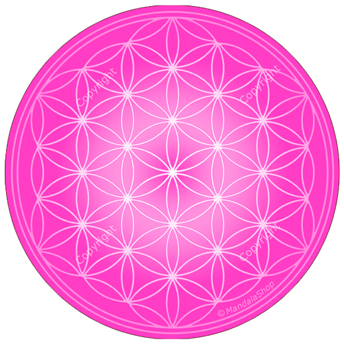 tapis de souris fleur de vie rose - Tapis Fleur