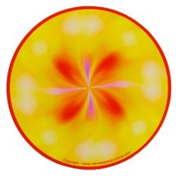Tapis de souris rond Mandala qui structure les pensées