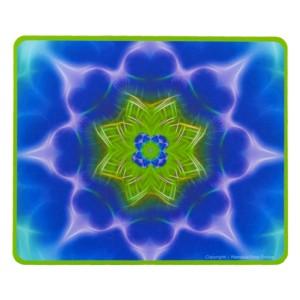 Tapis de souris rectangulaire Mandala de la croissance