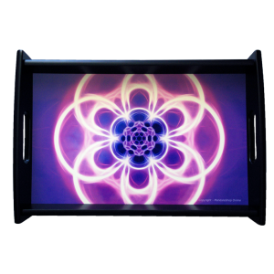 Serving tray Mandala of Transparence