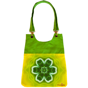 Green mandala bag for woman
