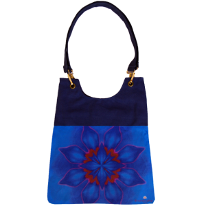Navy blue mandala bag for woman