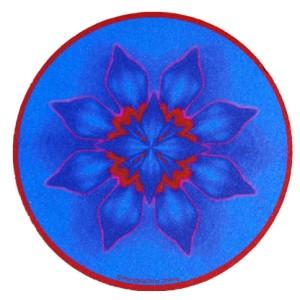 Tapis de souris rond Mandala de la Concentration