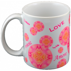 Mandala mug bubbles of Love