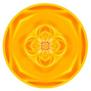 Tapis de souris rond Mandala de la Lumière