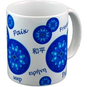 Mandala Mug bubbles of Peace