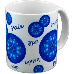 Mandala Mug bubbles of Peace