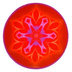 Tapis de souris rond Mandala de l'Harmonie
