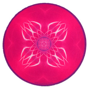 Round mouse pad Mandala of Blossoming