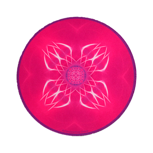 Tapis de souris rond Mandala de l'Epanouissement