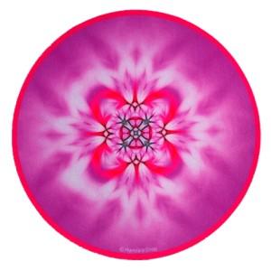 Tapis de souris rond Mandala de l'Art