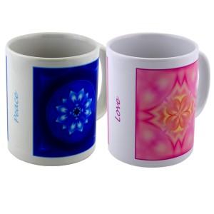 Duo mugs Amour & Paix