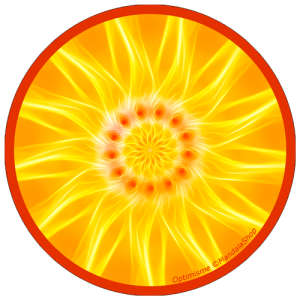 Disque harmonisant Mandala de l'Optimisme