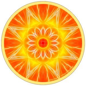 Disque harmonisant Mandala de l'Abondance