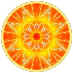 Harmonizing platter Mandala of Abundance