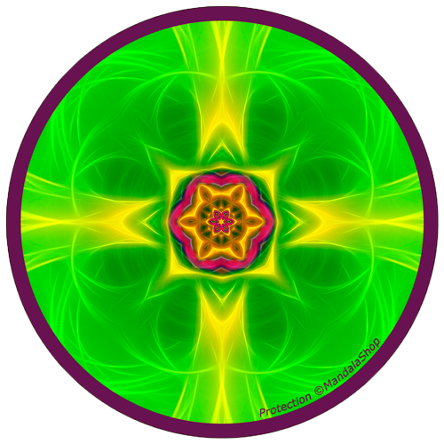 Harmonizing platter Mandala of Protection