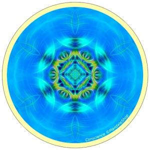 Harmonizing platter Mandala of Consciousness