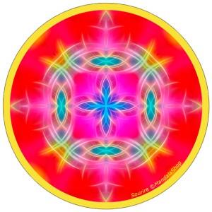 Harmonizing platter Mandala of Smile