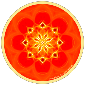 Harmonizing platter Mandala of Prosperity