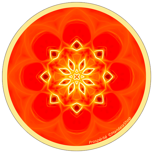 Harmonizing platter Mandala of Prosperity