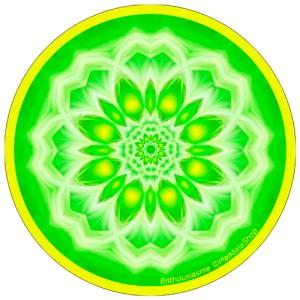 Disque harmonisant Mandala de l'Enthousiasme