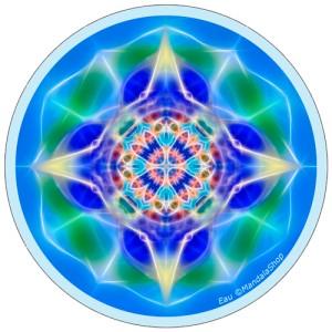 Disque harmonisant Mandala de l'Eau