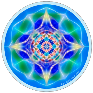 Harmonizing platter Mandala of Water