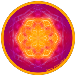 Harmonizing platter Mandala of Wisdom