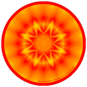 Disque harmonisant Mandala de la Puissance Créatrice