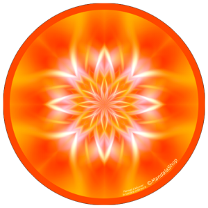 Harmonizing platter Mandala of Inner Light