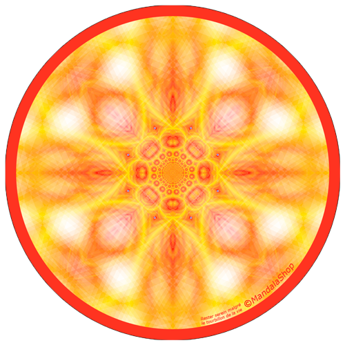 Disque harmonisant Mandala Rester serein