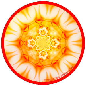 Harmonizing platter Mandala Eliminates blockages