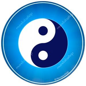 Round mouse pad Yin Yang