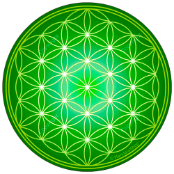 Harmonising disk Flower of Life - 7 colours at choice (from red to purple)