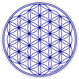 Round mouse pad - White Flower of Life