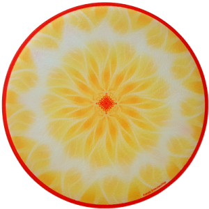 Round Energising Plate Mandala of Energy