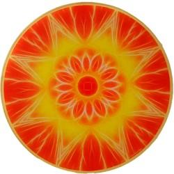 Round Energising Plate Mandala of Abundance