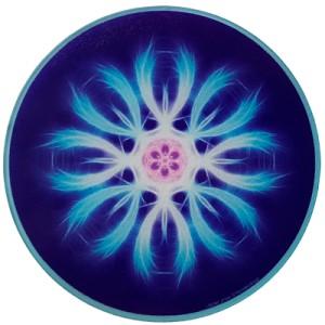 Round Energising Plate Mandala of Letting Go